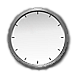 Analog clock displaying Los Angeles time